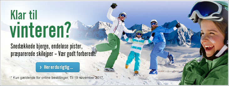 Klar til vinteren? Snedækkede bjerge, endeløse pister, præparerede skiløjper – Vær godt forberedt.